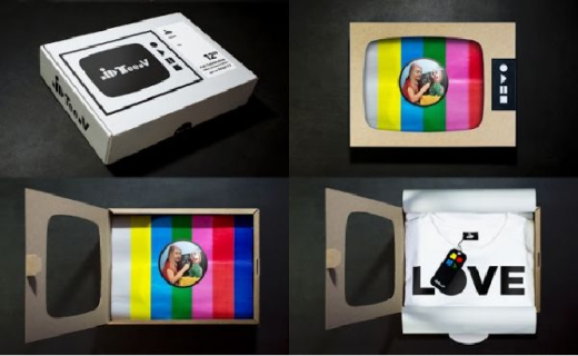 creative promotional t-shirt box