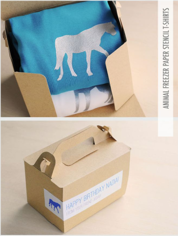 personalized t-shirt packaging gift