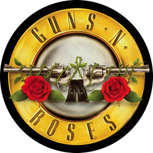 Band Stickers guns and roses