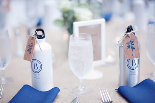 Practical wedding giveaways- water bottle