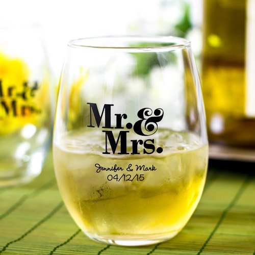 Practical wedding giveaways- beverage glass