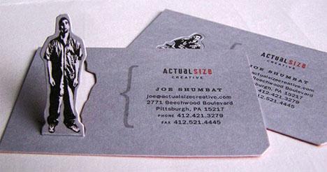 pop up business card sample