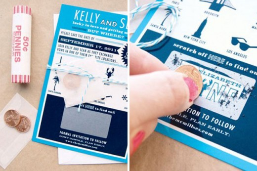unique party invitation- scratch off card
