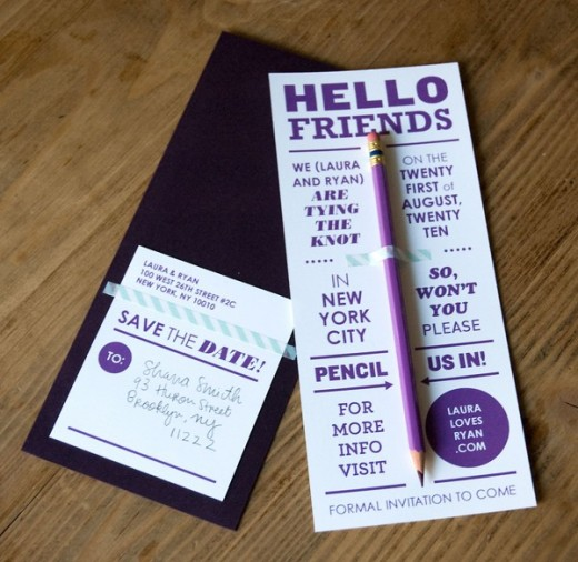 free pencil wedding invitation