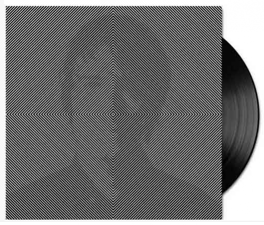 black and white optical illusion vinyl packaging