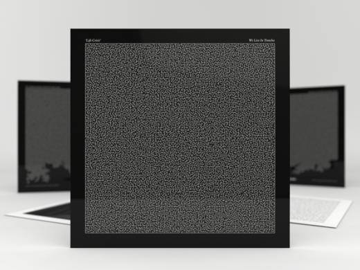 creative black and white vinyl packaging design