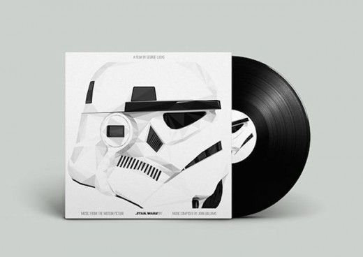 star wars black and White vinyl packaging