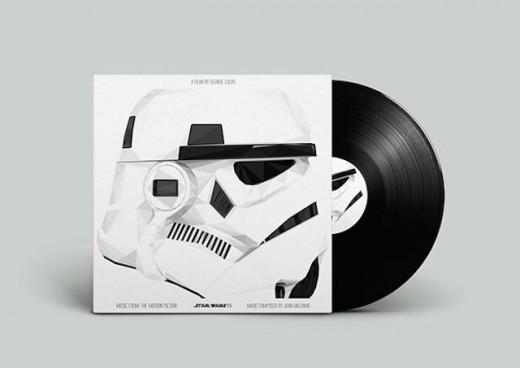 star wars black and White vinyl packaging