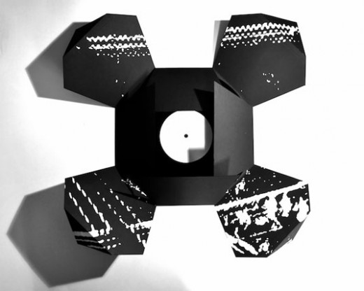 black and white vinyl fold out