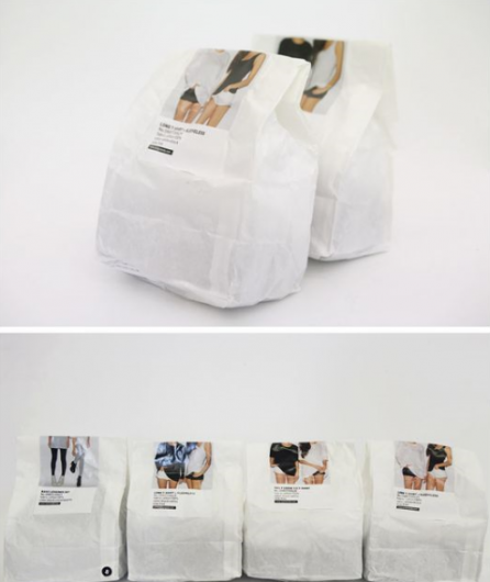 paperbag with sticker