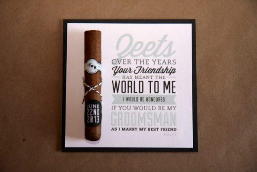 event invitation groomsmen tobacco