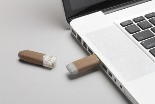 Blunts and Roses wooden USB