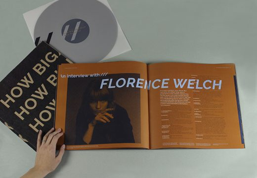 Florence Machine vinyl packaging