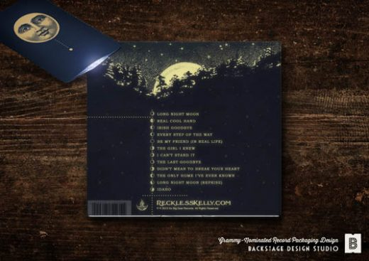 CD Packaging and flashlight: Long Night Moon