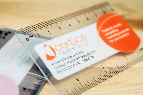 transparent ruler business card