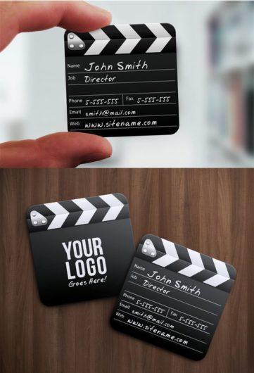 film clapper business card