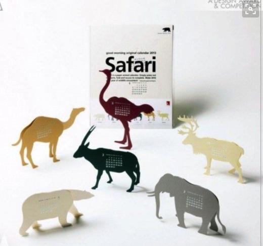 animal cardboard creative calendar