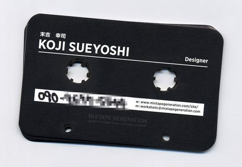 casette tape business card