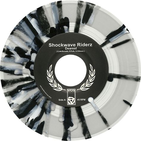 splattered vinyl- shockwave riderz