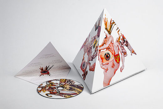 CD Packaging pyramid case