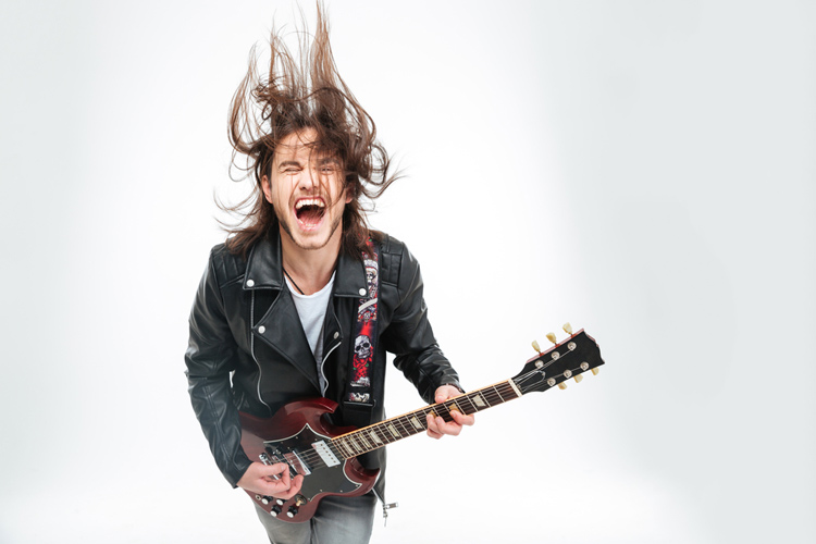 guitarist rocking out