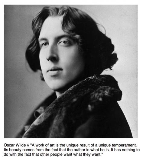 Artist Tips Oscar Wilde