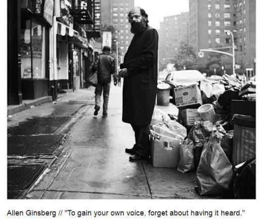 Artist Tips alen ginsberg
