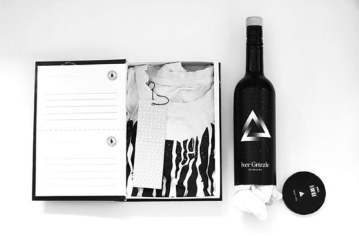 t-shirt packaging, T-Shirt Packaging: Wine Bottle for Iver Grizzle Shirts