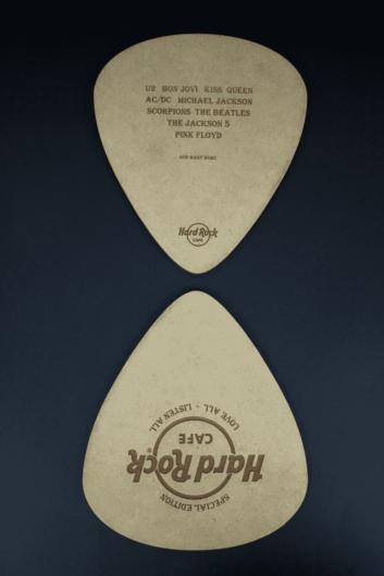 cd packaging hard rock cafe album guitar pick