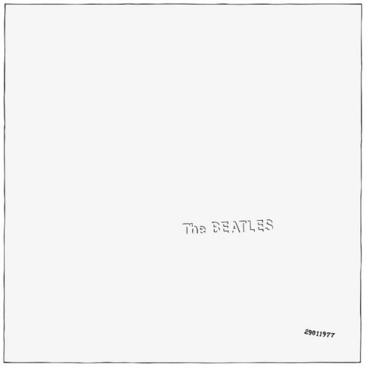 CD Replication Minimalist Beatles White