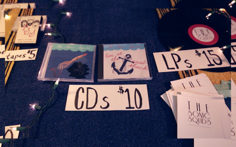Merch sales musician table