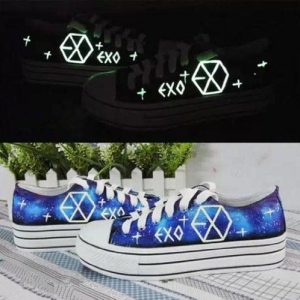 Kpop Merch EXO glow-in-the-dark Sneakers