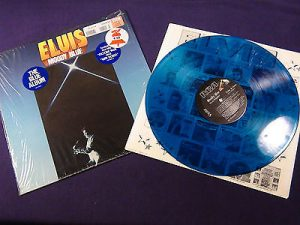 elvis blue vinyl record